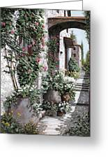 Le Rose Rampicanti Greeting Card by Guido Borelli