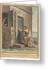 Le Thesauriseur Et La Singe (the Miser And The Monkey) Greeting Card