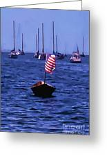Leader Of The Pack- Bristol Rhode Island Oil Effect Greeting Card
