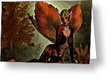 Leaf Elf Greeting Card