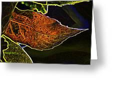Leaf Interpretation Greeting Card