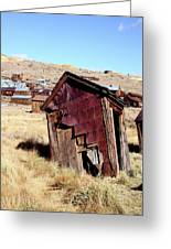 Leaning Bodie Outhouse Greeting Card