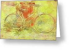 Leaning In Bicycle Greeting Card