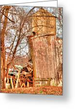Leaning Silo Greeting Card