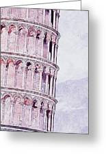 Leaning Tower Of Pisa - 03 Greeting Card