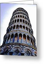 Leaning Tower Of Pisa In Tuscany, Italy Greeting Card