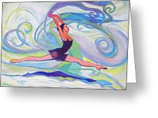Leap Of Joy Greeting Card