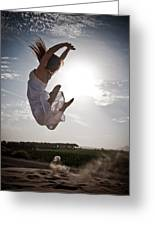 Leaping For The Sun Greeting Card