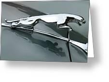 Leaping Jaguar Greeting Card