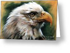 Leather Eagle Greeting Card by J W Baker