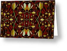 Leather In Floral Harmony And Peace Greeting Card
