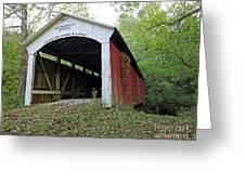 Leatherwood Station Covered Bridge Indiana Greeting Card