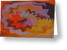 Leaves Abstract - Autumn Motif Greeting Card