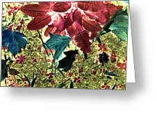 Leaves And Berries - Inversed Greeting Card