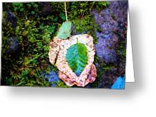 Leaves In A Pile Greeting Card