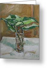 Leaves In A Tall Glass Greeting Card