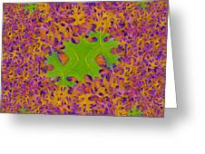 Leaves In Fractal 2 Greeting Card