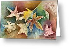 Leaves Of Autumn Greeting Card