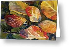 Leaves On A Pond Greeting Card