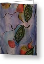 Leaves On Silk Greeting Card