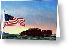 Leaving Alcatraz Greeting Card