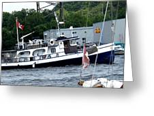 Leaving Harbor Greeting Card