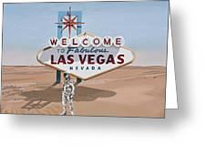 Leaving Las Vegas Greeting Card by Scott Listfield