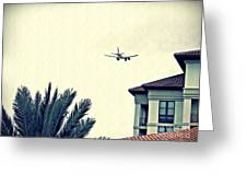 Leaving On A Jet Plane 1      Greeting Card