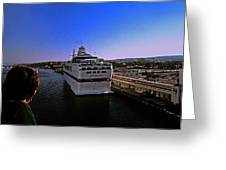 Leaving Port Greeting Card