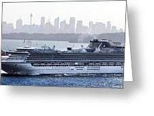 Diamond Princess Leaving Sydney Greeting Card