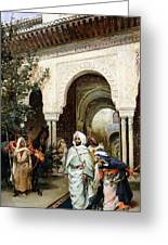 Leaving The Alhambra Greeting Card