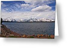 Leaving The Grand Tetons Greeting Card