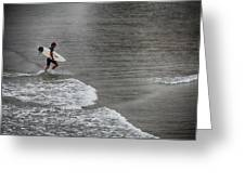 Leaving The Surf Greeting Card
