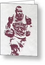 Lebron James Cleveland Cavaliers Pixel Art 4 Greeting Card