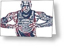 Lebron James Cleveland Cavaliers Pixel Art 54 Greeting Card