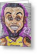 Lebron James Los Angeles Lakers Greeting Card