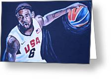Lebron James Portrait Greeting Card