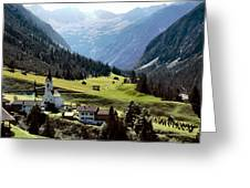 Lech Valley Village Greeting Card