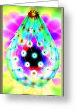 Led Lamp Easter Drop Did Not Faberge Greeting Card by Yuri Shevnin