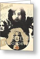 Led Zeppelin Autographed Album  Greeting Card