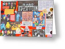 Led Zeppelin Color Collage Greeting Card