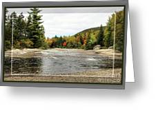 Ledge Falls Hollow, Framed Greeting Card
