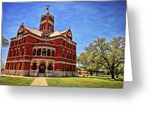 Lee County Courthouse Giddings Texas 2 Greeting Card