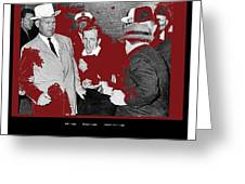 Lee Harvey Oswald Shot By Jack Ruby Photo Taken By  Dallas Times Herald Photographer Bob Jackson  Greeting Card