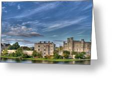 Leeds Castle And Moat Rear View Greeting Card