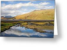 Leenane Reflection Irish Landscape Greeting Card