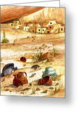 Left Behind - Indian Pottery Greeting Card