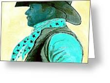 Left Facing Cowboy Greeting Card