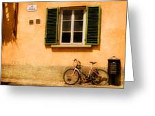 Left Flat In Lucca Greeting Card