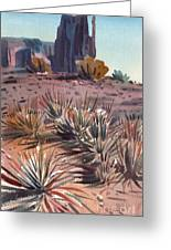 Left Mitten And Yucca Greeting Card